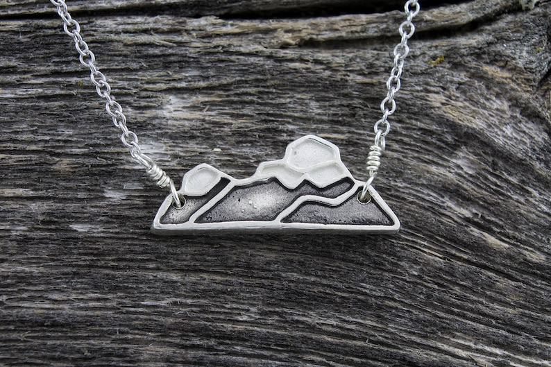 Crownsnest Pass Mountain Necklace image 0