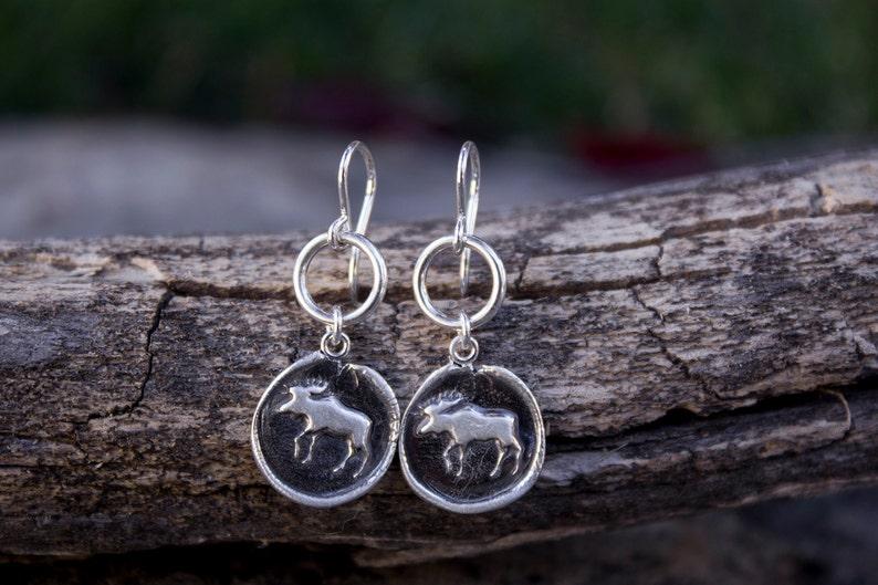 Moose Totem Earrings