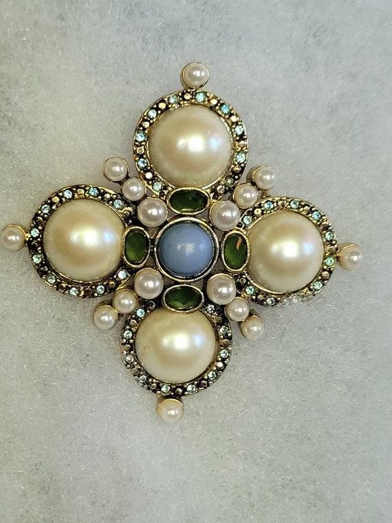 Monet Marvelous Maltese Cross Vintage Glam