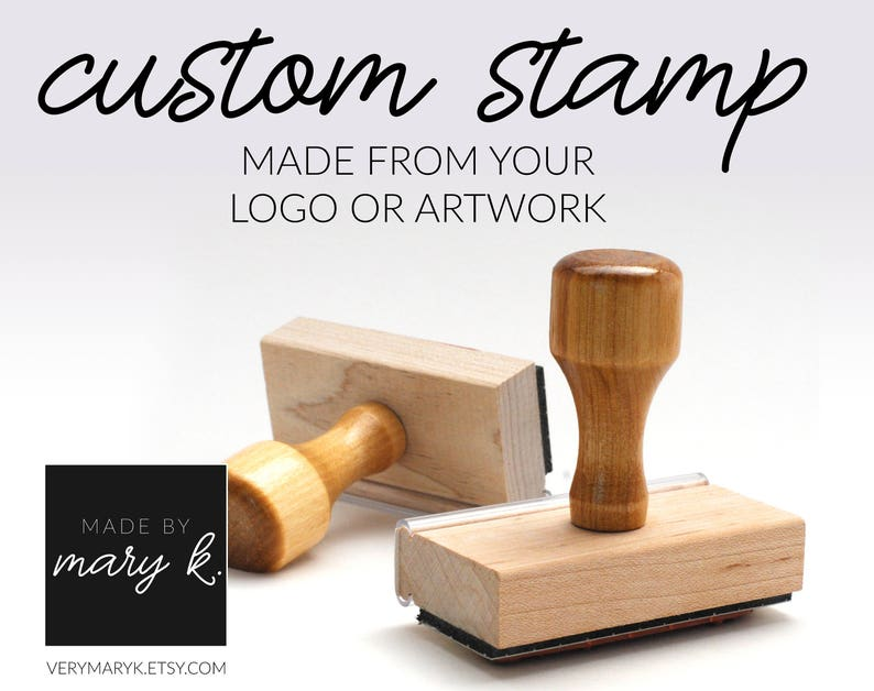 Custom Rubber Stamp Custom Logo Stamp Personalized Rubber image 0