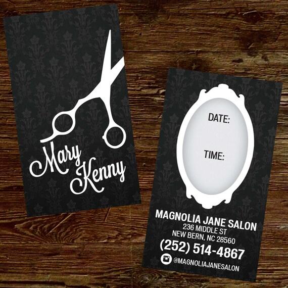 Custom Hair Stylist Business Cards Professionally Printed Etsy
