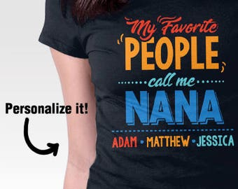 Grandma shirt personalized for Christmas, Personalized gift for grandma, Grandchildren names grandparents, Nana shirt with grandkids names