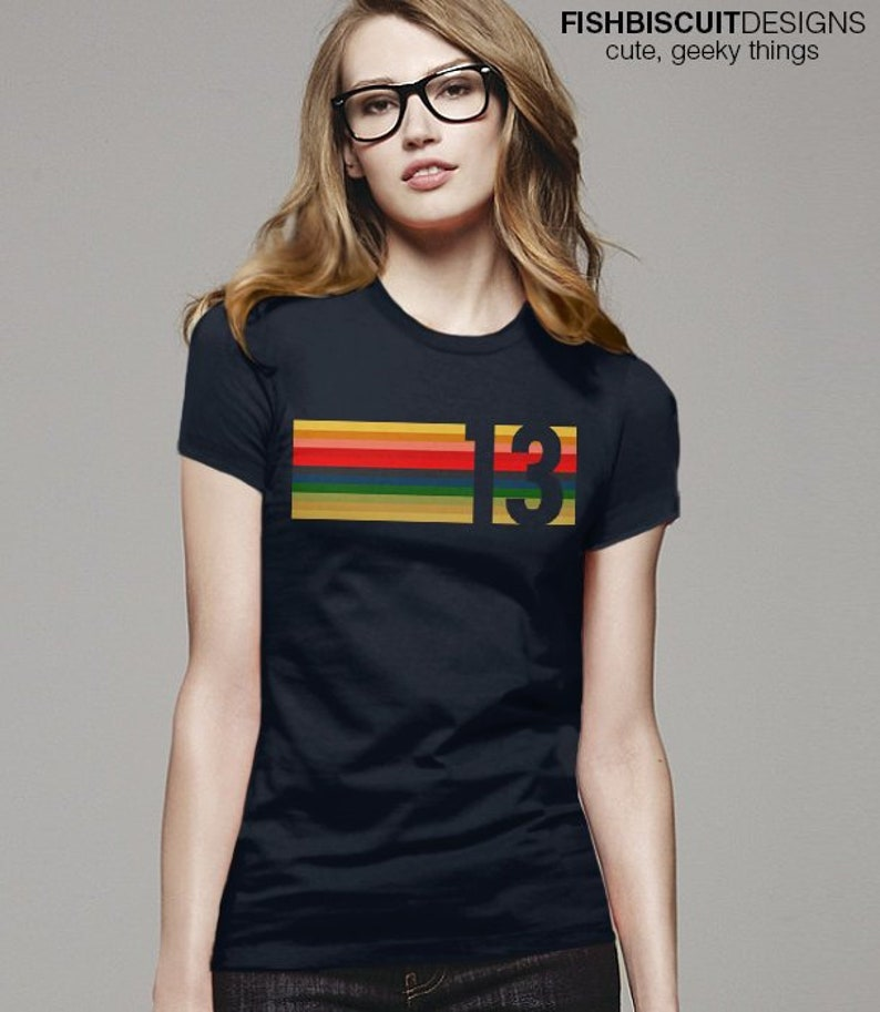 9149ede37e8 13th Doctor shirt Doctor 13 T Shirt striped cosplay shirt