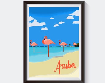 Aruba Poster Etsy