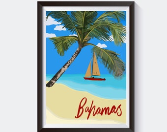 Bahamas Travel Poster