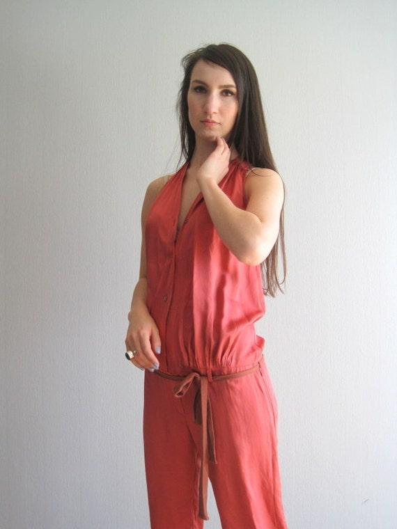cc0d7cd116ab Women s Jumpsuit Romper Red Playsuit For Women Silk