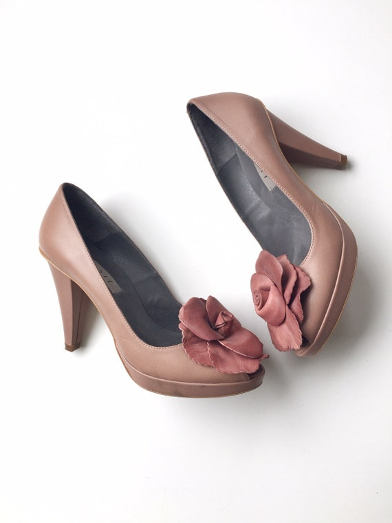 Dusty Pink Pumps Beige Pumps Romantic Womens Shoes