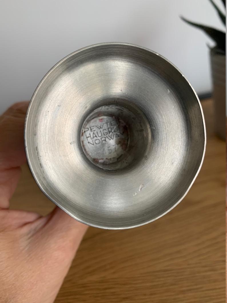 Norwegian Pewter Gothic Style Candle Holder Pewter Candleholder