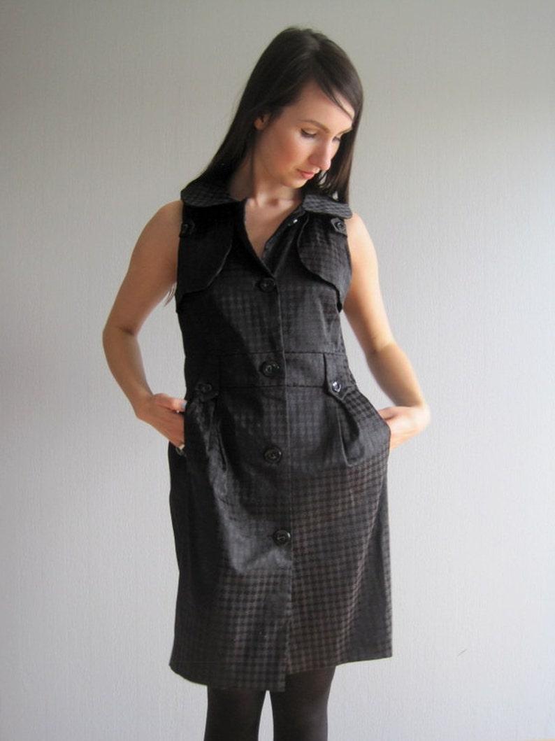 0a96565ed5d6 Vestito MARNI estate Mini Black Dress Designer Pied De Poule