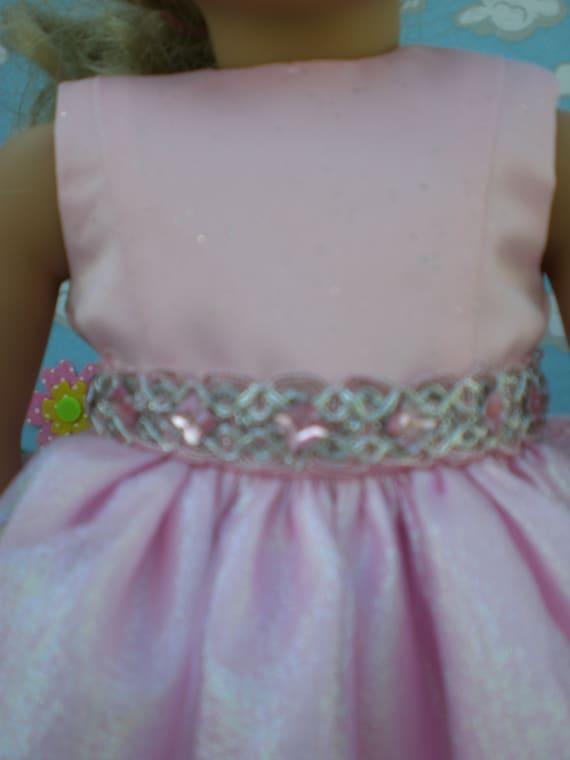 Rosa freneci Moda Hermoso Vestido de Verano Apto para 18  American Dolls Girl Party Accesorio
