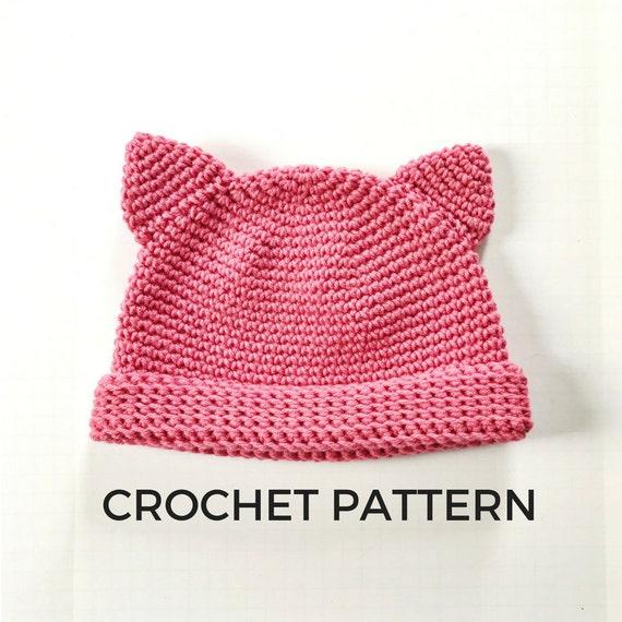 Pussy Hat Crochet Pattern Women's March 40 Kitty Hat Etsy New Pussyhat Pattern