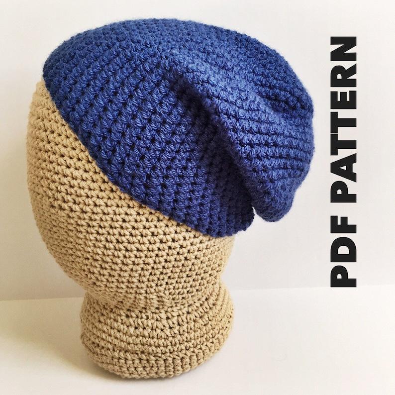 Slouchy Beanie Crochet Pattern Easy Basic Slouch Beanie Pattern  b5b65721ac0