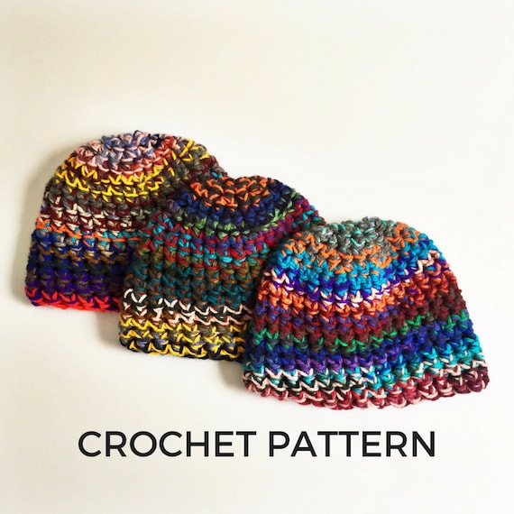 Crochet Pattern Scrap Yarn Beanie Crochet Pattern Stash  3e1684144cd