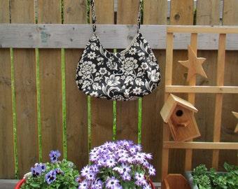 Handmade lined large cotton hobo bag for summer