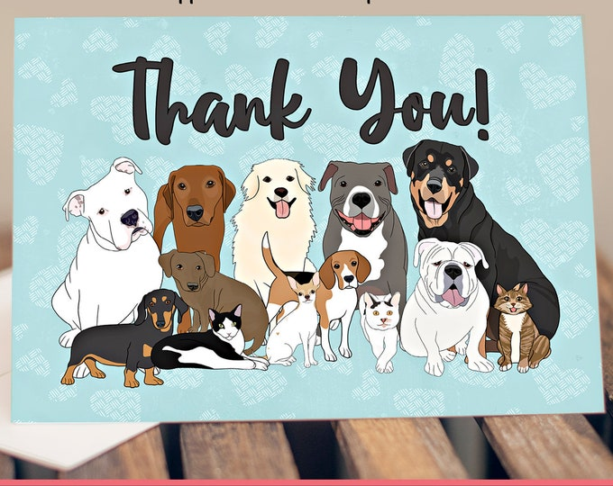 "5x7"" Rescue/Shelter Donor Thank You Card *FAST SHIPPING*"