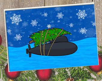 "5x7"" Submarine Christmas Card"