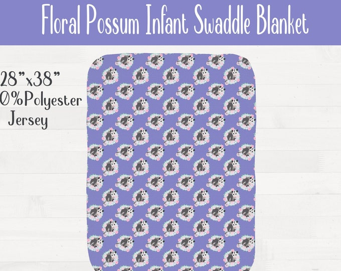 Floral Possum Infant Swaddle Nursery Baby Shower Gift *Free Shipping*