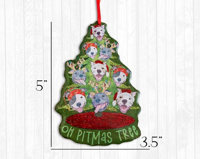 Oh Pitmas Tree Resin Christmas Ornament