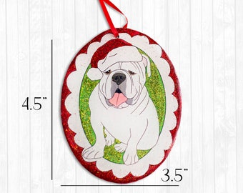 English Bulldog Resin Christmas Ornament