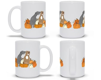 Pitties and Pumpkins 15oz Pitbull Fall October Coffee Mug Pit Bull