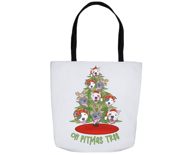 Oh Pitmas Tree Double Sided Print Tote Bag 16x16""