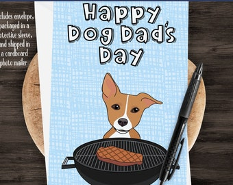 "5x7"" Happy Dog Dad's Day Jack Russell Greeting Card Father's Day Jack Russell Dad *FAST SHIPPING*"