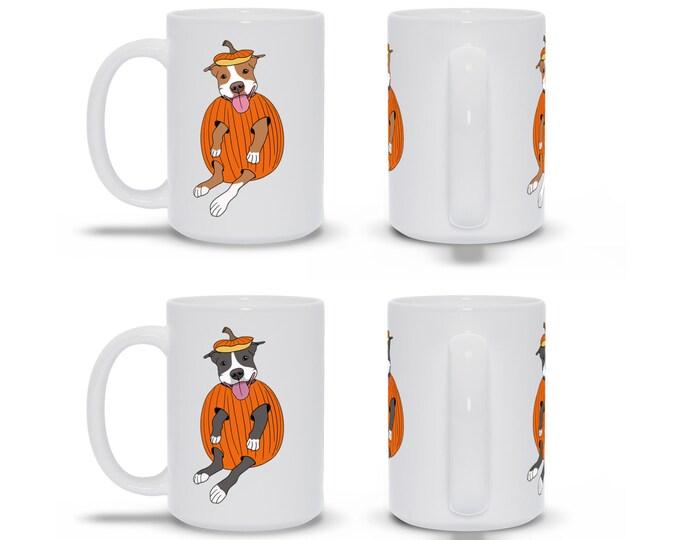 Pit Bull in a Pumpkin 15oz Pitbull Fall October Coffee Mug