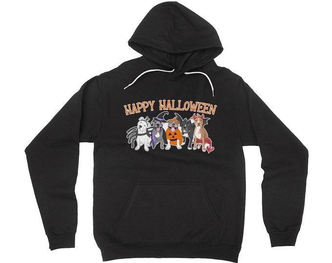 Halloween Pitties Pit bull Happy Halloween Pitbull Adult Hoodie