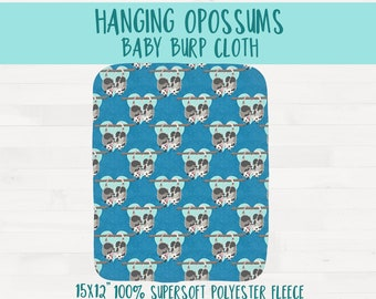Hanging Possums Infant Baby Burpcloth Opossum Nursery Baby Shower Gift *Free Shipping*