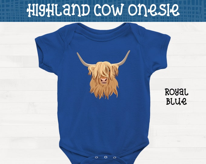 Highland Cow Short Sleeve Infant Pitbull Onesie Pit Bull Baby Shower Gift FREE SHIPPING