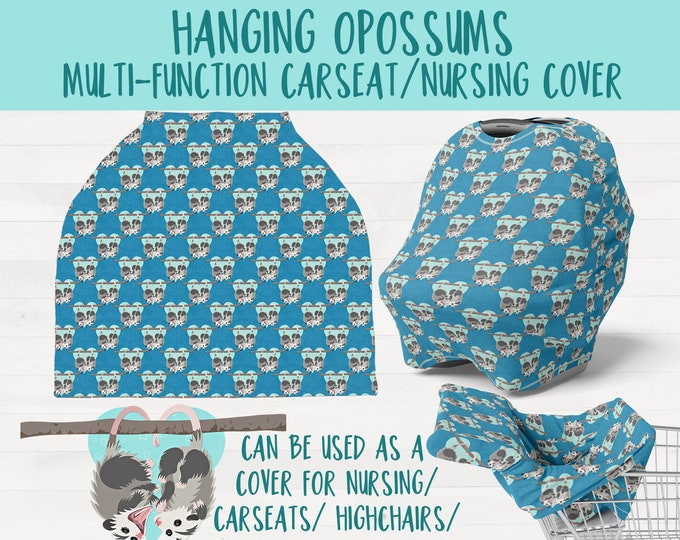 Hanging Possums Infant Multi Function Nursing Cover Carseat Shopping Cart High Chair  Opossum Nursery Baby Shower Gift *Free Shipping*