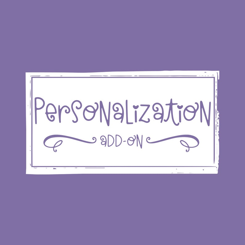 Personalization Add-On for select listings image 0