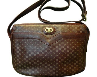 80 s vintage Celine shoulder purse in bordeaux a00bbb3ddd6ab