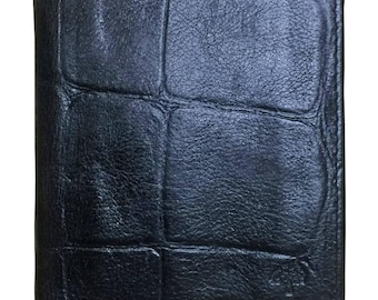 fd32d5dc71b1 Vintage Mulberry croc embossed black leather card case