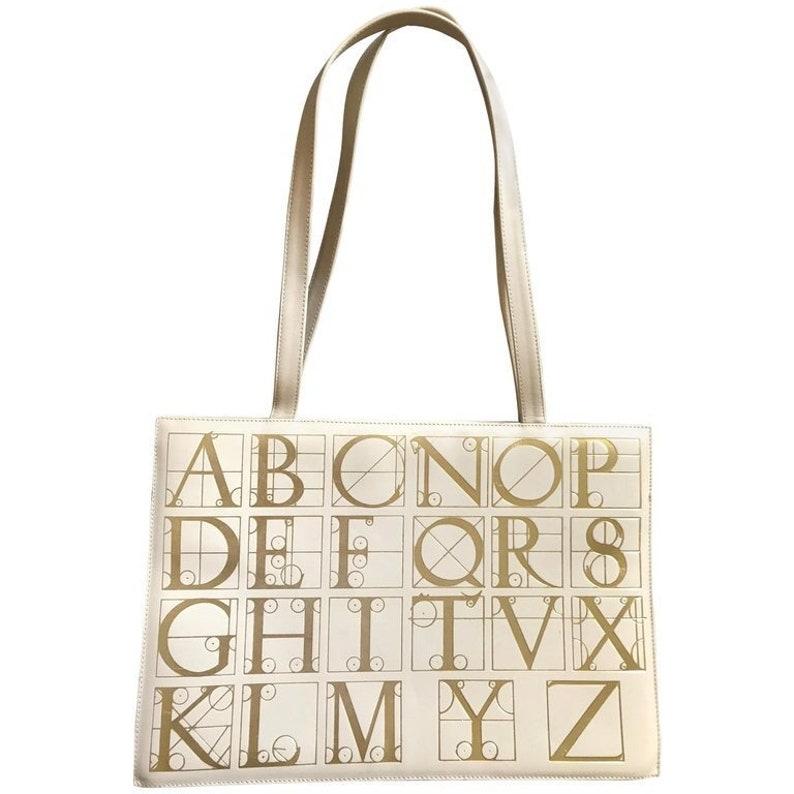 648a6f436b34 Vintage Paloma Picasso ivory beige leather large shoulder bag | Etsy