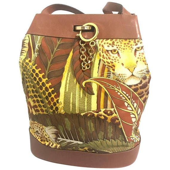 c9d78195dc19 Vintage Salvatore Ferragamo leopard in safari jungle print
