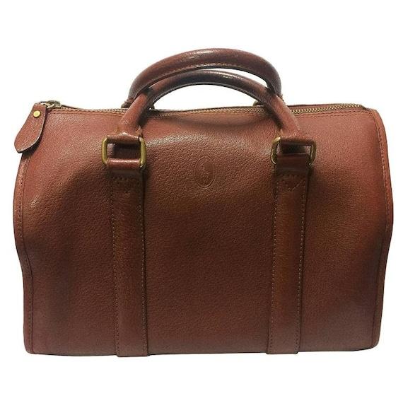 6d63e4bea7de Vintage Ralph Lauren brown leather speedy style bag mini