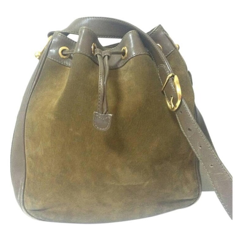a82771ab9c9 Vintage gucci genuine brown suede leather large hobo bucket etsy jpg  794x794 Vintage gucci leather hobo