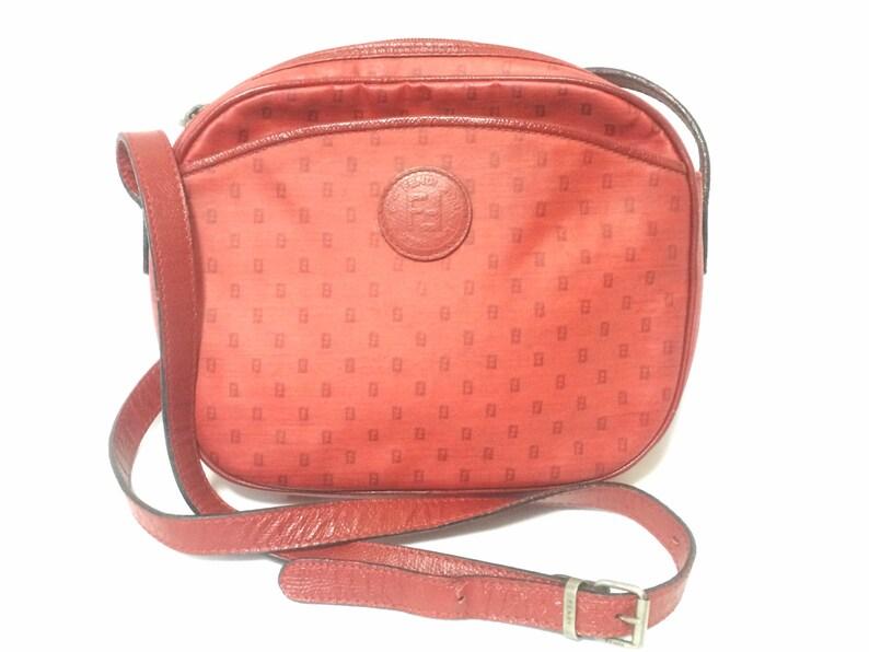 e6e9ca183c49 80 s vintage Fendi red oval round shape shoulder purse