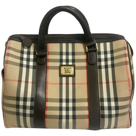 7d11a6794935 Vintage Burberry classic beige and brown nova check handbag
