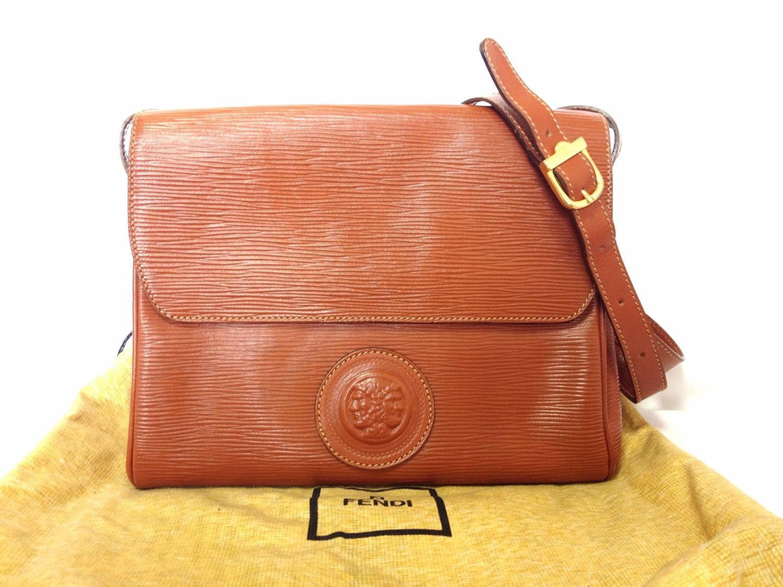 4890fae81c Vintage Fendi brown epi leather messenger bag shoulder purse