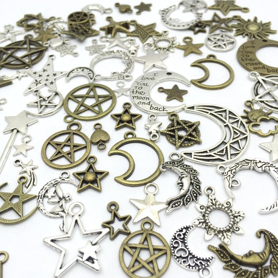 5 Fairy Tale Charms Antiqued Bronze Alice in Wonderland Themed Assorted Lot