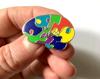 HaHa Brilliant Brain Pin, Gift for Doctor, Nurse, Scientist,  Brain Injury, TBI, Brain Tumor, Brain Awareness, Inspiration, Neuroscience