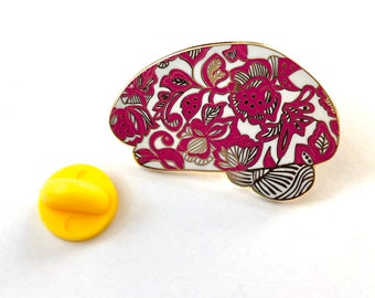 Lacy Brain Pin. Brilliant Brain Pins, Gift for Doctor, Nurse, Scientist, Brain Tumor or Cancer Survivor. Lapel pins.