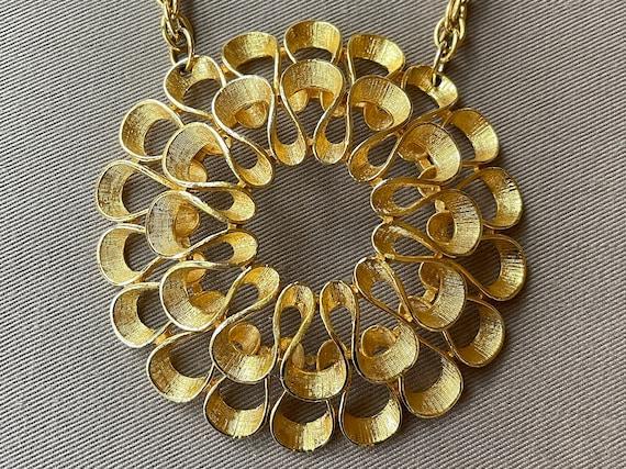 Massive Mid-Century Pendant Statement Necklace - image 1