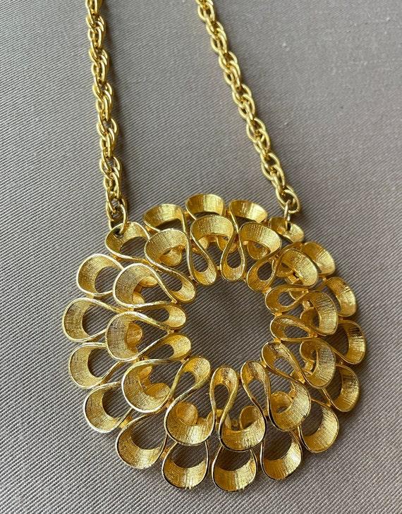 Massive Mid-Century Pendant Statement Necklace - image 3