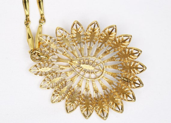 Mid-Century Monet Pendant Statement Necklace - image 4