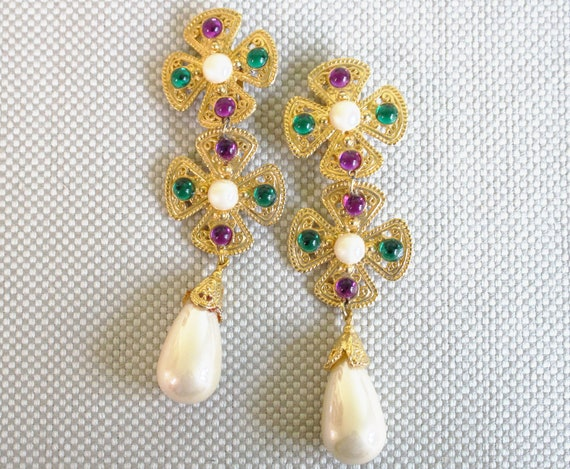 Mardi Gras Statement Earrings