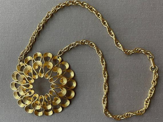 Massive Mid-Century Pendant Statement Necklace - image 6
