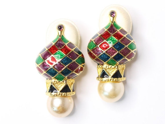 Joan Rivers Russian Cathedral Enamel Clip On State